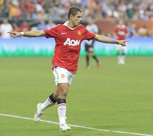Haoss Klub navijača Manchester Uniteda Chicharito-celebrates-vs-mls-all-stars