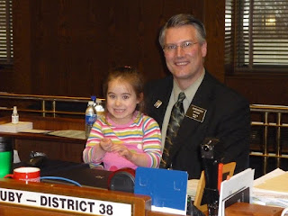 North Dakota Rep. Dan Ruby with Elisha Lancaster