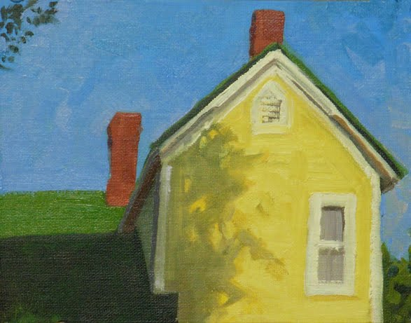 Christopher greco red yellow blue and green daily - Yellow house with green roof ...