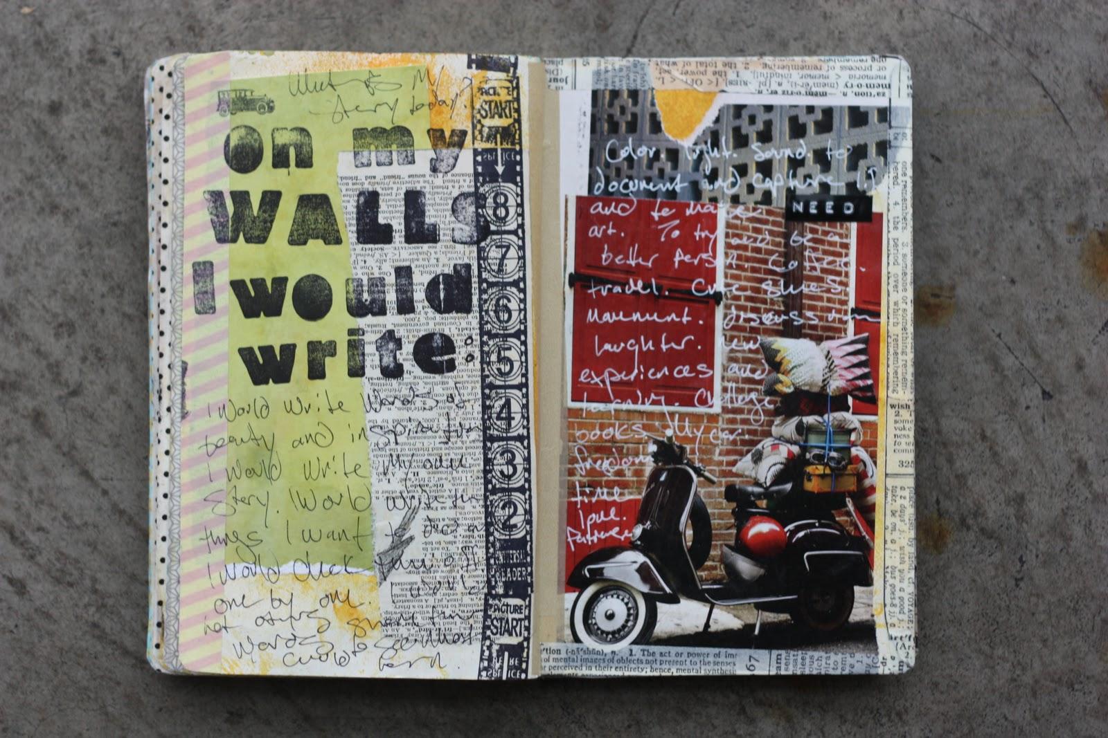 Coffee Girl Crafts: A blog about pretty things: Sketchbook ... Sabrina Ward Harrison Sketchbook