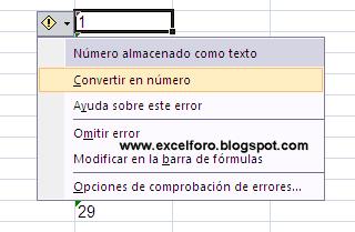 convertir en número valores almacenados como texto