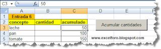 VBA: macro para  acumular cantidades.
