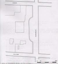 Plano especifico de la cuadra de la plazuela del teatro