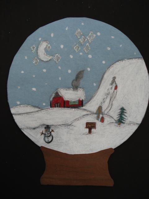 a faithful attempt sparkling snow globes