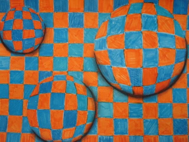 Op Art Line Design Lesson : A faithful attempt op art d spheres