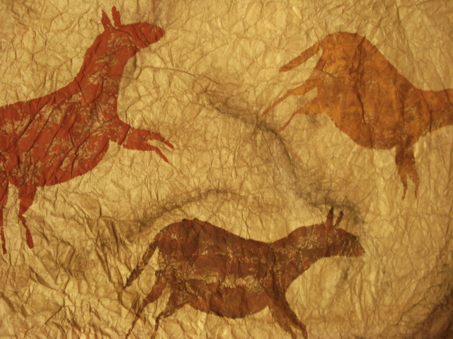 Caveman Art : A faithful attempt: cave art paintings