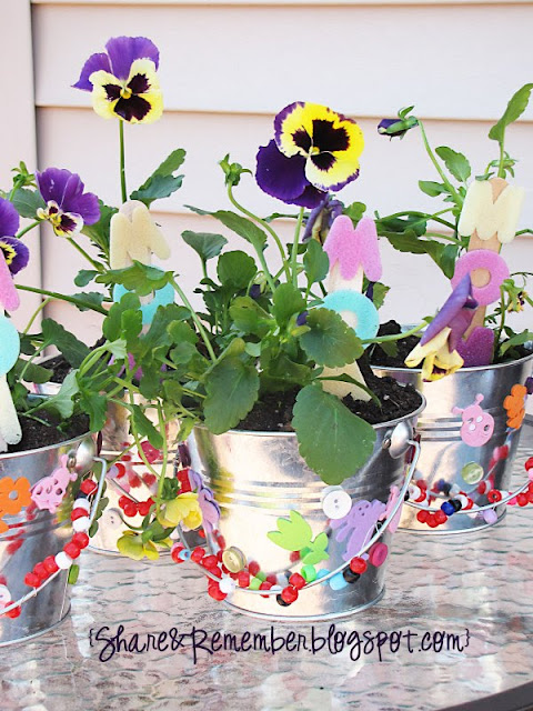 Mother's Day Projects - Flower Buckets