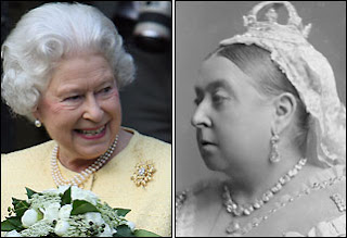 Her Majesty the Queen and Queen Victoria