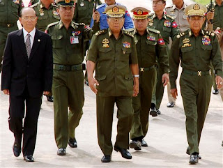 >Burmese 3 Senior Generals retiring from military positions