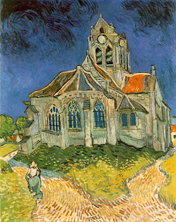 Iglesia de Auvers - Van Gogh