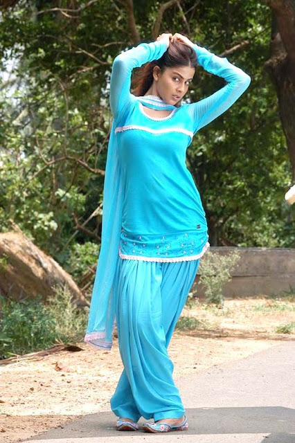 genelia in blue dress