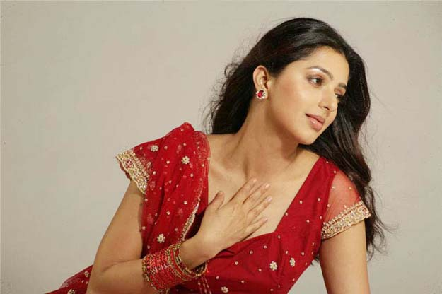 Hot Bhumika Chawla in Red Saree