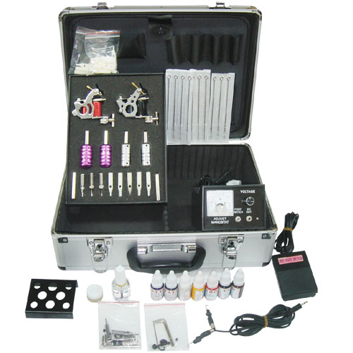 See larger image: Complete Tattoo Kit 1 Machine Gun Power Ink Grip D30-5