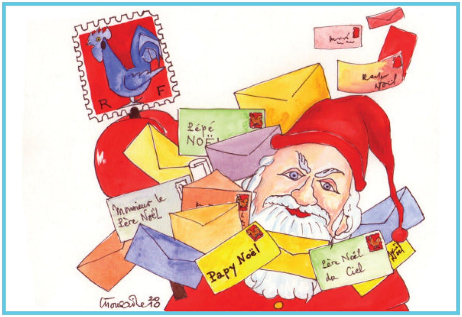 Blog philat lie cartophilie de michel le courrier du p re no l - Adresse du pere noel la poste ...
