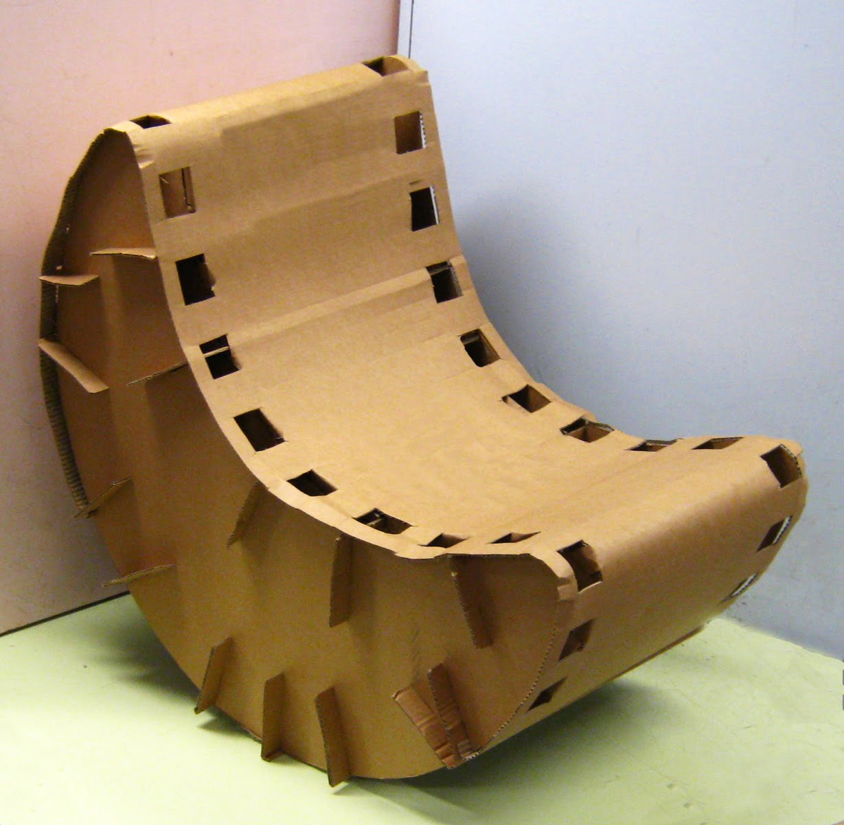 Together And Make A Cardboard Rocking Chair This Was The Final Chair. Full resolution‎  snapshot, nominally Width 1229 Height 1202 pixels, snapshot with #68461D.
