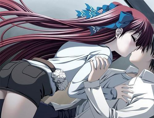 anime love. emo anime love kiss. emo anime