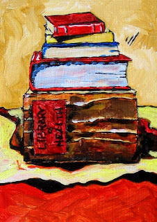Still Life of Books painting by Bruce Docker