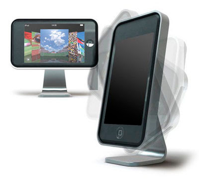 icooly ipod touch stand rotate