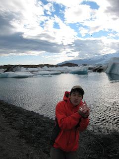 Holding Ice