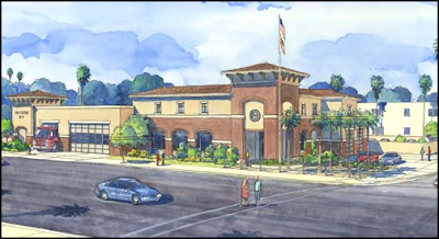 Artist Concept of New LAFD Station 13