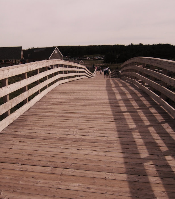 Cavendish Beach boardwalk bridge..PEI