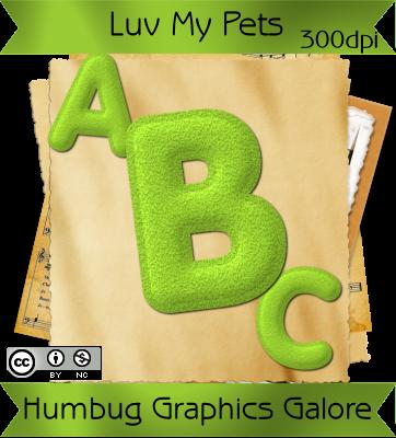 http://humbuggraphicsgalore.blogspot.com/2009/05/luv-my-pets-green-felt-alpha.html