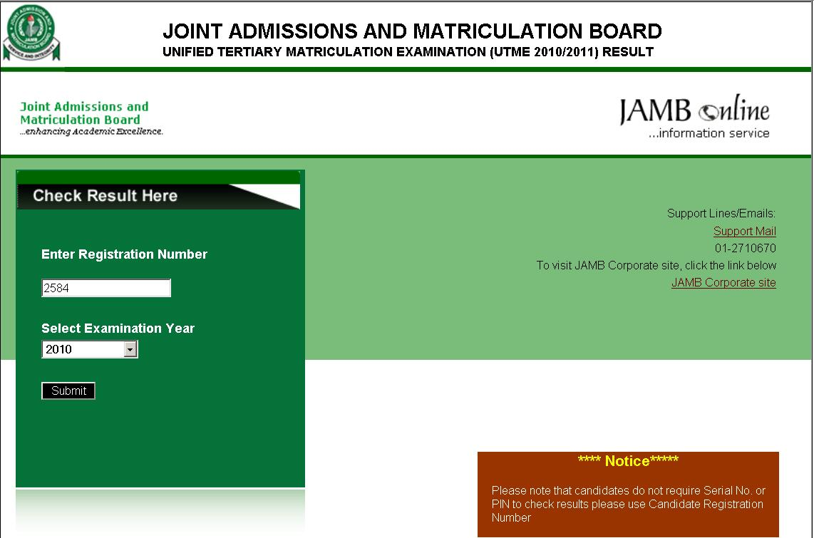Jamb UTME Results 2010 Released : Check Your results | letmeget.com