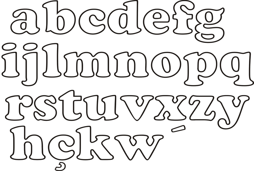 Mimos da Lene: Moldes de letras diversos...