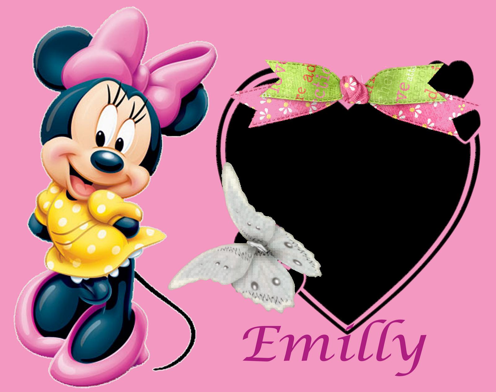 CHIARA - Molduras Digitais: 5 Molduras com o Nome Emilly