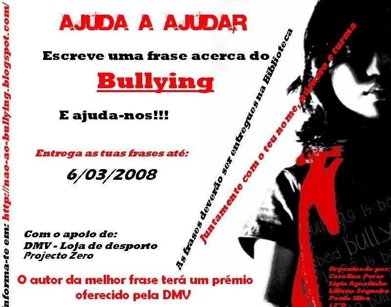 Não Ao Bullying Concurso De Frases