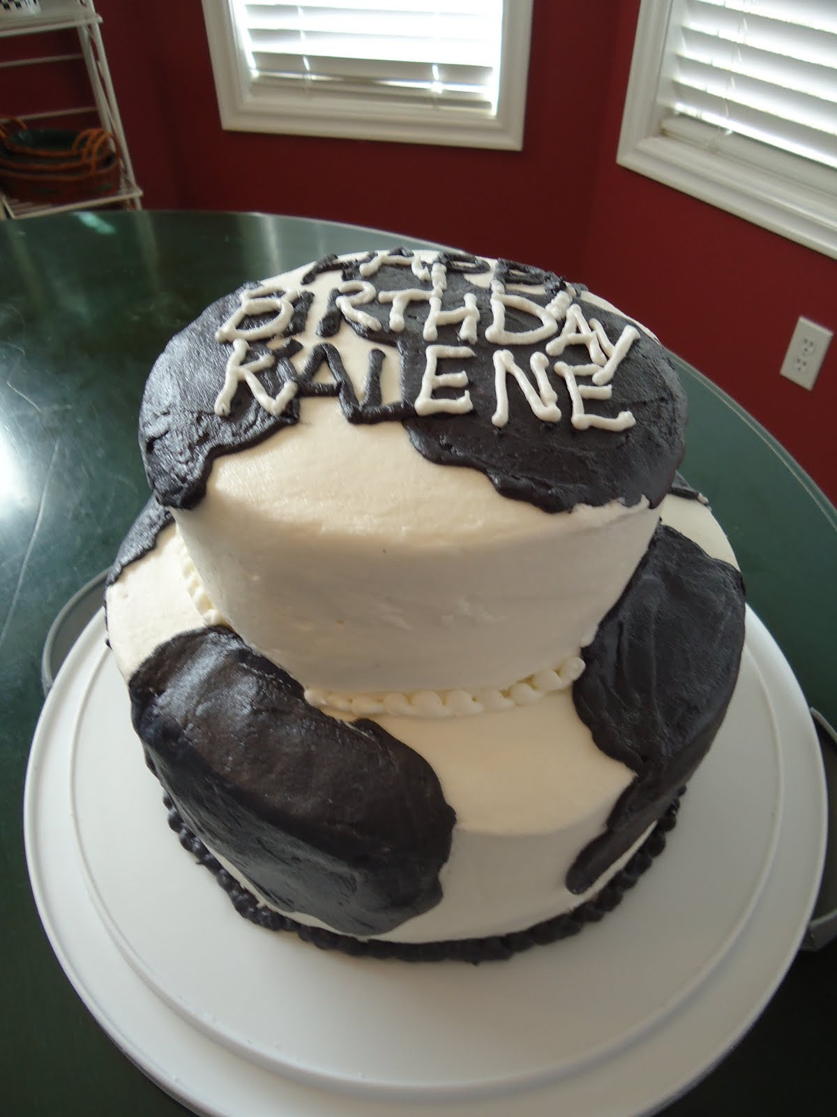 Cat S Cake Creations Holstein Cow Birthday Cake