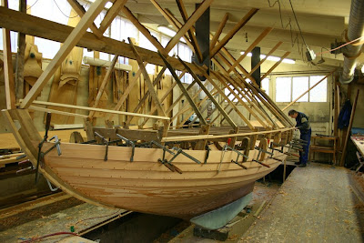 Folkbåt i trä, nybygge pågår