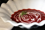 Beet Soup with Truffle Oil