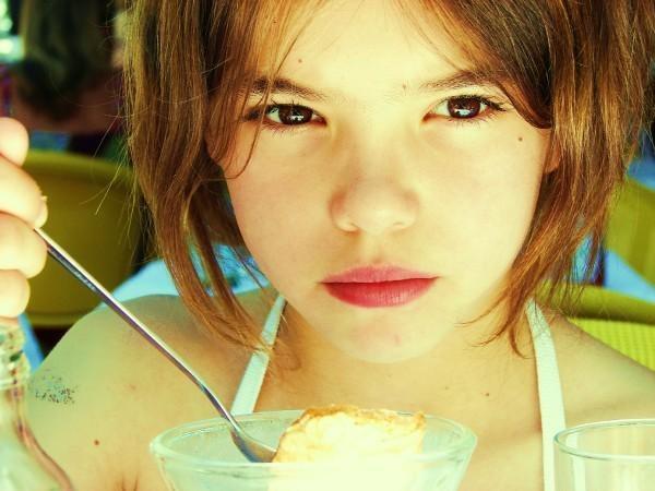 Me, eating dessert.