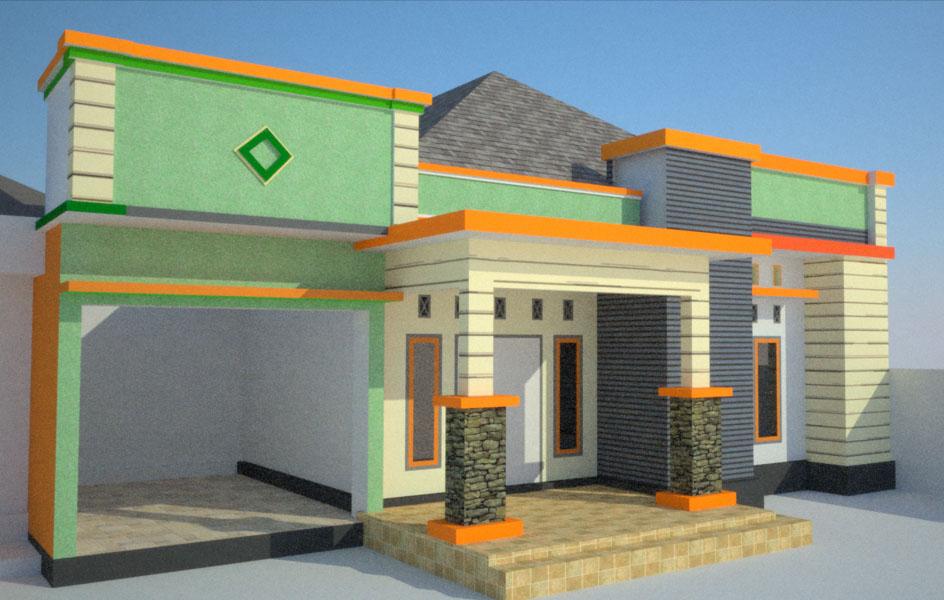Di Bangunan ini juga direncanakan sebuah garasi mobil yang berada