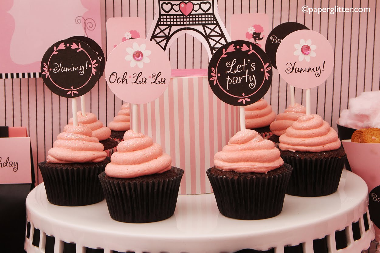 Paris+Themed+Birthday+Party+Supplies ... Kawaii, Party Decorations ...