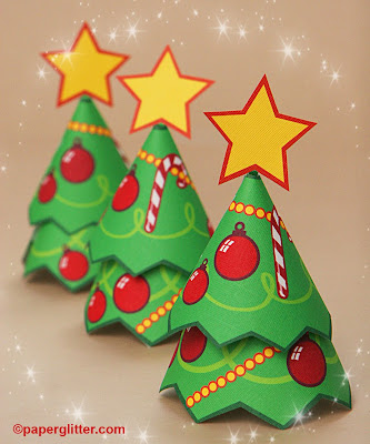 Paper glitter cute downloads printables paper crafts for Printable christmas craft ideas