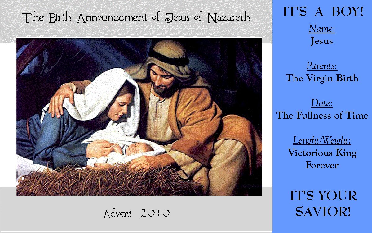 Prince of Peace Lutheran Sermons Matthew 11825 The Birth – Jesus Birth Announcement
