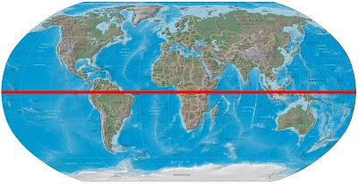 World map with equator jpg