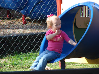 Grace LOVES slides!