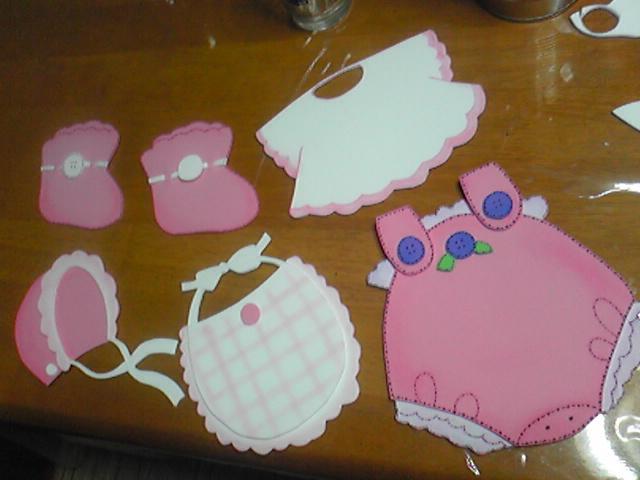 Figuras de foamy para baby shower de niña - Imagui