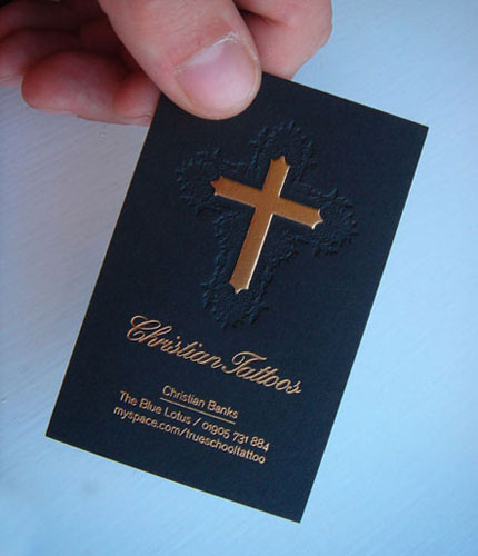 stumbled upon a pretty awesome business card - Christian Business Cards