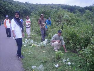 Camat Asakota dan Jajaran,  Gelar Tanam 2.500 bibit Pohon