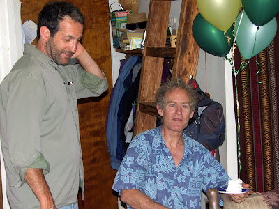 Alex and Russell in the big cabin after Janets graduation from Colfax High School.  June 2 2007
