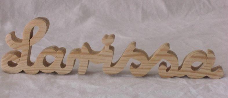 klopfspecht holzbuchstaben in schreibschrift natur oder farbig. Black Bedroom Furniture Sets. Home Design Ideas