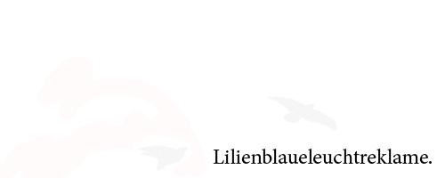 Lilienblaueleuchtreklame