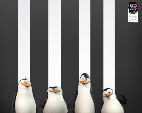 Penguins of Madagascar streaky wallpaper