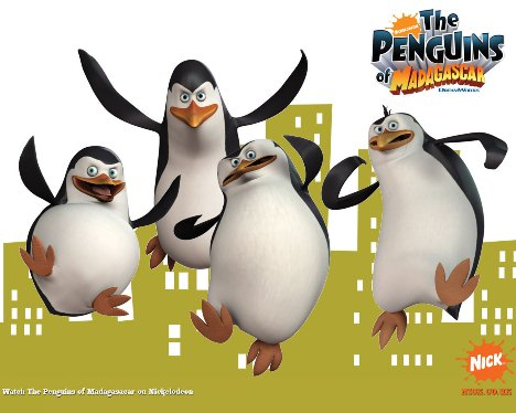 Penguins of Madagascar in Action Wallpaper