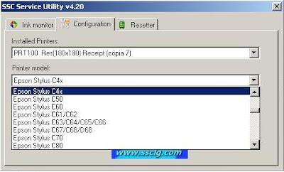 Impressoras compatíveis com o SSC Service Utility