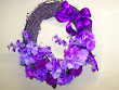 Snazzy Purple Power Wreath